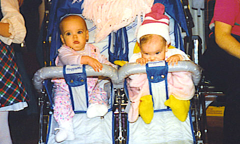 If you ask me, they still belong in a double stroller.
