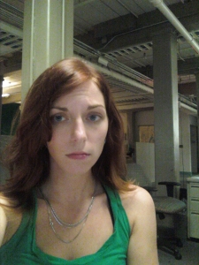 Me, at work, looking and feeling miserable. TREYYYYY