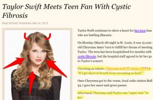 Taylor Swift: the devil?